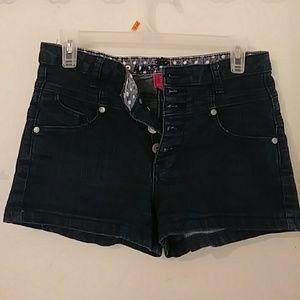 Dark Demi High Waist Shorts